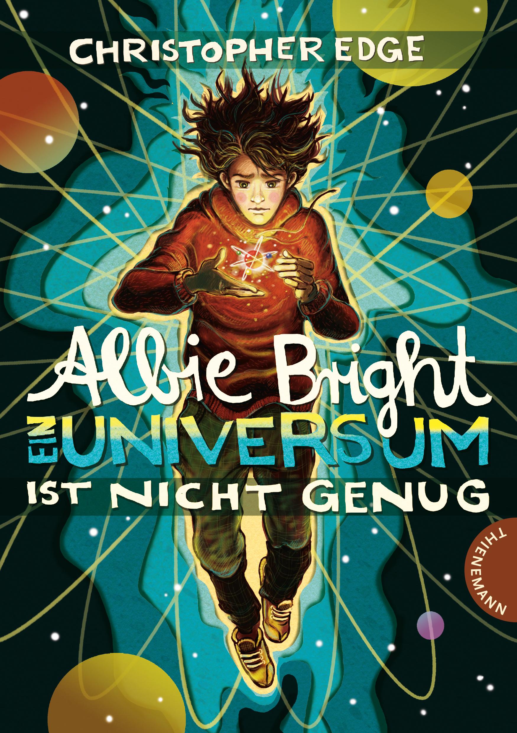 """""""Albie Bright - Ein Universum ist nicht genug"""" Book Cover"""