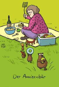 Bärige Cartoons Dorthe Landschulz - Ameisenbaer