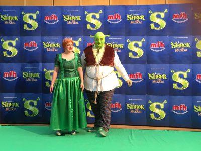 Shrek und Fiona Pressetermin -journalismus