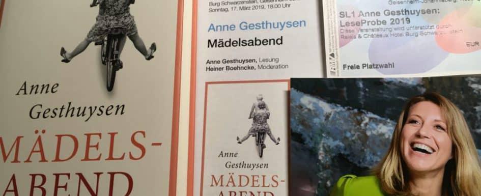 Karten etc Mädelsabend Anne Gesthuysen Literaturblog