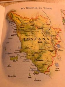 Landkarte Toscana