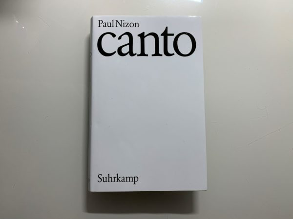 Canto Paul Nizon https://www.instagram.com/suhrkampverlag/