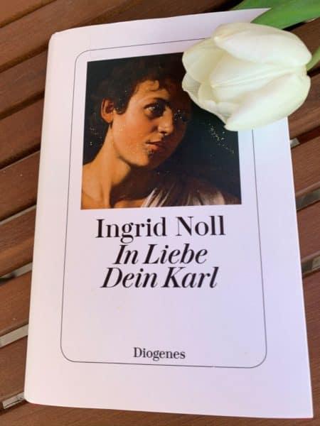 In Liebe Dein Karl mit Tulpe