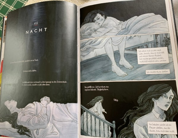 Der Report der Magd Graphic Novel Schwarz weiß