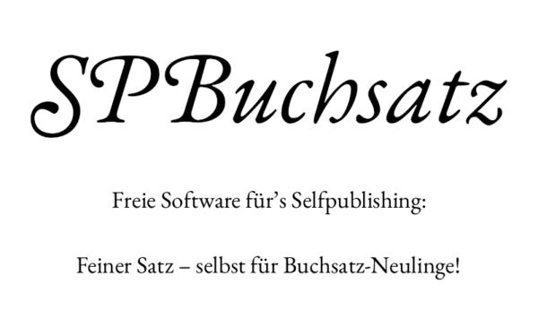 SPBuchsatz Literaturblog Schreibblogg
